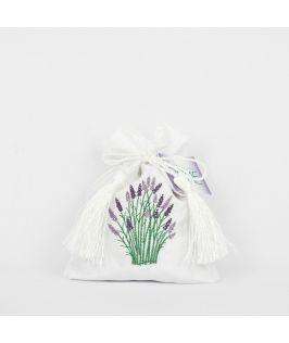 Bridestowe Satin Lavender Bag (White)