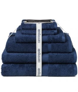 Canningvale Australia Royal Splendour 6 Piece Towel Set Mezzanotte Blue