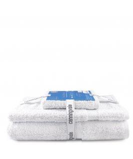 Canningvale Royal Splendour 3 Piece Towel Set - White