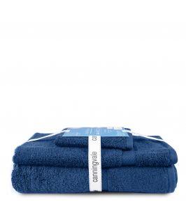 Canningvale Royal Splendour 3 Piece Towel Set - Mezzanotte Blue