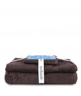 Canningvale Royal Splendour 3 Piece Towel Set - Visone Brown