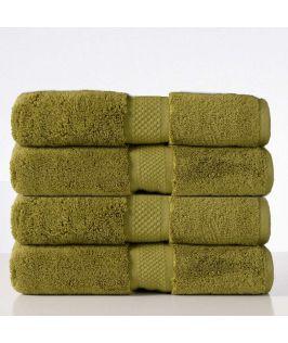 Aria Bath Towel - Oliva Green