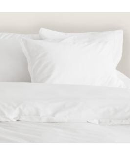 Canningvale Australia Bamboo Cotton Quilt Cover Set Single Bed Carrara White