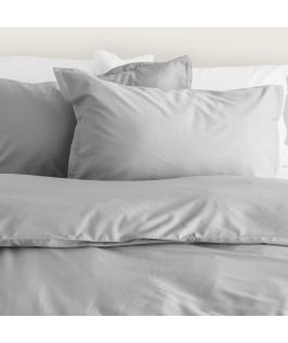 Canningvale Australia Bamboo Cotton Quilt Cover Set Queen Bed Perla Grey