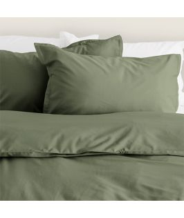 Canningvale Australia Bamboo Cotton Quilt Cover Set Queen Bed Saggia Green