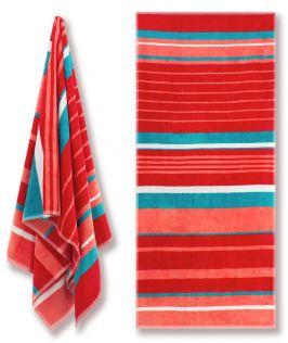 Cotton Velour Beach Towel - Candy