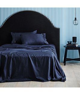 Canningvale Australia Classico Hotel Single Sheet Set Indigo Blue