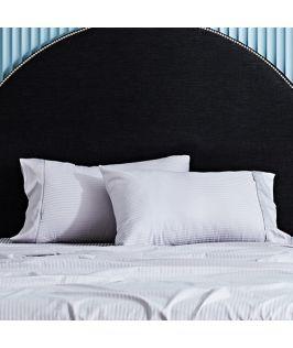 Canningvale Australia Classico Hotel Pillowcase Twin Pack - 10cm Cuff Dolphin Grey
