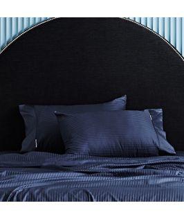 Canningvale Australia Classico Hotel Pillowcase Twin Pack - 10cm Cuff Indigo Blue