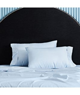 Canningvale Australia Classico Hotel Pillowcase Twin Pack - 10cm Cuff Powder Blue