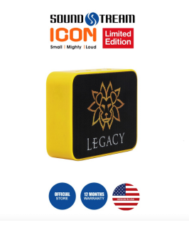 Legacy Icon (Limited Edition) by Soundstream - Yellow and Black