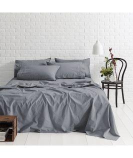 Canningvale Australia Sleep Easy Queen Sheet Set Denim Blue