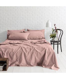 Canningvale Australia Sleep Easy King Sheet Set Dusky Red