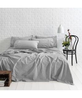 Canningvale Australia Sleep Easy Queen Sheet Set French Grey