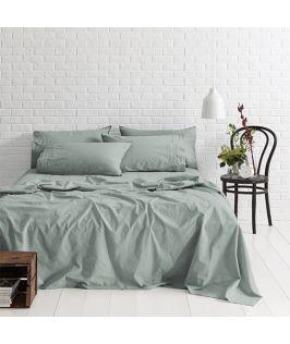 Canningvale Australia Sleep Easy Queen Sheet Set Sea Mist