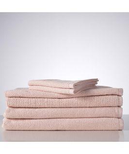 Sofi Organic Boucle 6 Piece Towel Set- Blush Pink