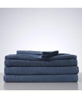 Sofi Organic Boucle 6 Piece Towel Set- Denim Blue