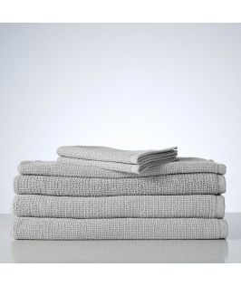 Sofi Organic Boucle 6 Piece Towel Set- Perla Silver