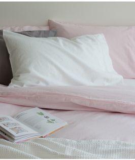 Canningvale Australia Sogno Linen Cotton Quilt Cover Set Queen Bed Amore Blush