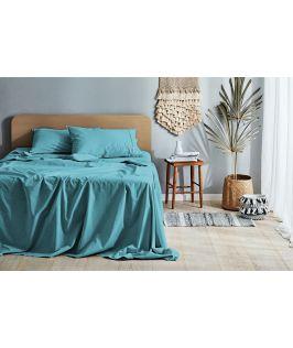 Canningvale Australia Vintage Softwash Cotton King Sheet Set - Island Aqua